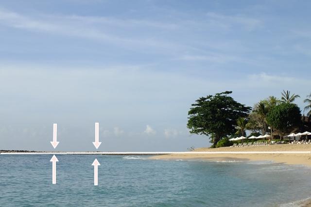 Garis Horizon harus lurus foto miring tidak enak dilihat