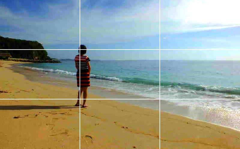 Penerapan rule of thirds