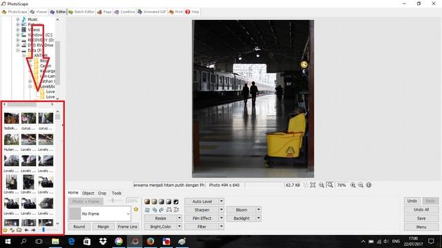 merubah foto berwarna menjadi foto hitam putih dengan photoscape 03