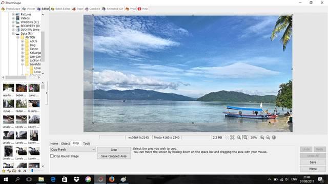 cara melakukan cropping dengan photoscape 10