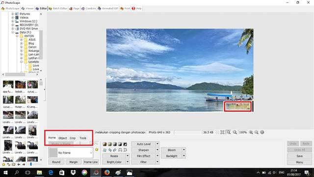 cara melakukan cropping dengan photoscape 12