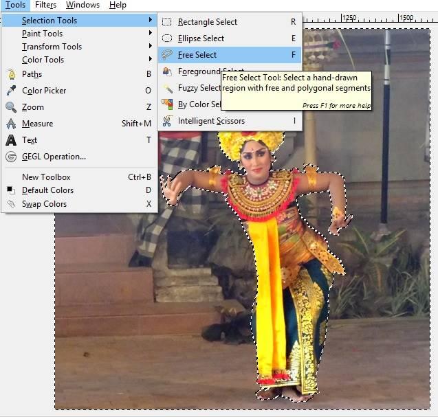 Cara Membuat Latar Belakang Hitam Dengan GIMP D