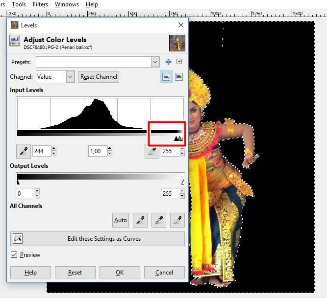 Cara Membuat Latar Belakang Hitam pada foto Dengan GIMP F