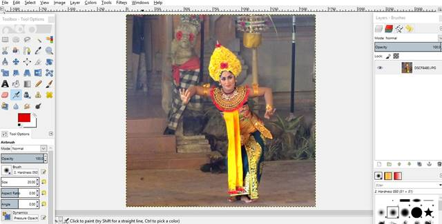 Cara Merubah Warna Latar Belakang Foto Dengan GIMP B 1