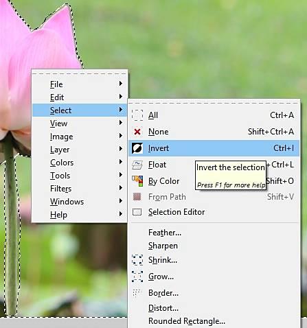 cara membuat efek selective color dengan GIMP AA10