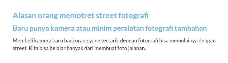 fotografi jalanan genre untuk orang miskin