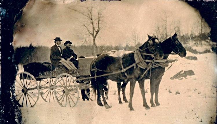 foto pada tahun 1860 di amerika serikat saat salju turun